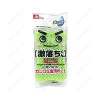 Gekiochikun Kitchen Sponge, Acrylic Non-Woven Cloth, Green