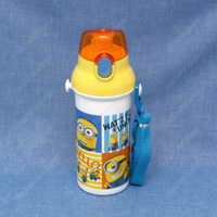Dishwasher OK Direct-Drinking One-Touch Plastic Bottle, Minions 3