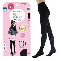 Onna no Yokubo Pill-Resistant Tights, 110DEN M-L (Black)