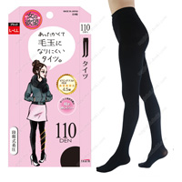 Onna no Yokubo Pill-Resistant Tights, 110DEN L-LL (Black)