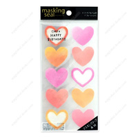 Masking Stickers, 77628 Writable Type, Heart