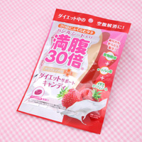 Manpuku 30 Bai Diet Support Candies, Strawberry Milk