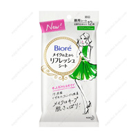 Biore Refresh Sheet For Use Over Makeup, Aqua Citrus Fragrance, For Portable Use, 12