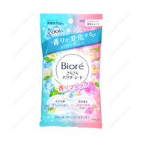 Biore SaraSara Powder Sheet, Kaori Magic, Marine to Floral Fragrance, Portable Type