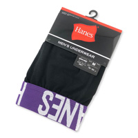 Hanes Boxer-Briefs (w/Fly) Purple, M