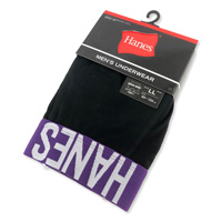 Hanes Boxer-Briefs (w/Fly) Purple, LL