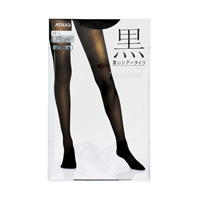 ATSUGI Black, Black Sheer Tights, 25 Denier, M-L