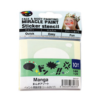 Miracle Paint Stencil, Manga Assortment