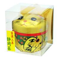 Shizuoka Tea Maneki Neko Can (Gold) Sencha