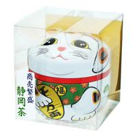 Shizuoka Tea Maneki Neko Can (White) Sencha