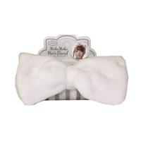 Fluffy Hair Band, Milky White