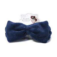 Fluffy Hair Band, Midnight Navy
