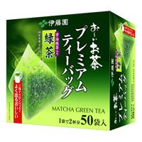 Oiocha Premium Teabags, Green Tea w/Uji Matcha Tea, 50 Bags