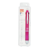 PILOT Frixion Ball 3, Metal, Pink, 3 Colors (Black/Red/Blue) 0.5mm