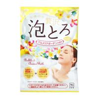 Oyumonogatari Luxurious Thick Lather Bath Additive, Plumeria Garden Fragrance
