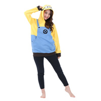 116 Minions Hoodie, Yellow, One-Size-Fits-All