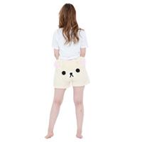 045 Korilakkuma Fleece Shorts, Ecru M-L