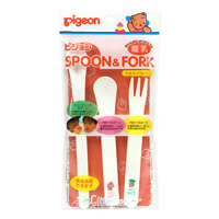 Pigeon Spoon & Fork, Little Coro, Plastic