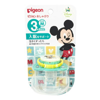 Pigeon Pacifier, Mickey, 3 Months & Older, M Size