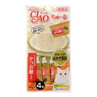 CIAO Chu-ru Okhotsk Scallop Ligament, w/Chicken Fillet & Katsuobushi