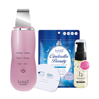 belulu Water Peeling Beauty Appliance & Gold Leaf Serum Mask 3-Piece Set