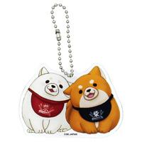 Chuken Mochi Shiba, Acrylic Ball Chain Key Holder (Okaka & Ume)
