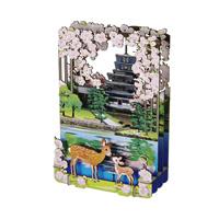 3D Paper Puzzle, Nara (Cherry Blossom)