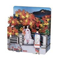 3D Paper Puzzle, Arashiyama (Togetsu-kyo Autumn Leaves)