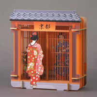 3Dペーパーパズル 舞妓さん