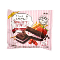 Cream Brown Rice Bran Strawberry Brownie
