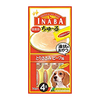 CIAO Churu Chicken Tender Beef Taste (14g x 4 Sticks) For Dogs