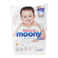 Natural Moony Man Pants M Size (48 units)