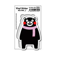 KUMA-09 Kumamon Sticker Pink Scarf