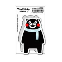KUMA-10 Kumamon Sticker Blue Scarf