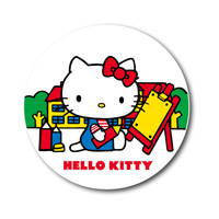 LCB-197 Hello Kitty 76mm Button Badge/ Sanrio Nostalgic Series