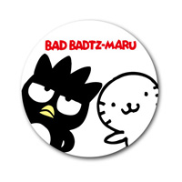 LCB-201 Bad Badtz-Maru 76mm Button Badge/ Sanrio Nostalgic Series