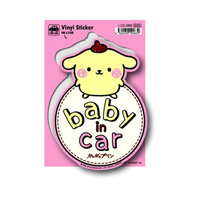 LCS-066 Pom Pom Purin Baby In Car Sticker