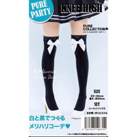 PURE PARTY Knee High (White Ribbon)