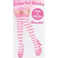 Colorful Striped Socks (Pink x White)