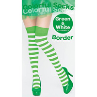 Colorful Striped Socks (Green x White)