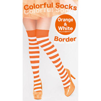 Colorful Striped Socks (Orange x White)