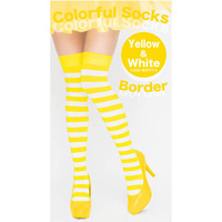 Colorful Striped Socks (Yellow x White)