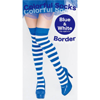 Colorful Striped Socks (Blue x White)