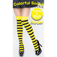Colorful Striped Socks (Yellow x Black)