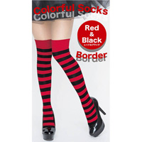 Colorful Striped Socks (Red x Black)