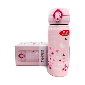 Thermos Vacuum Insulation Portable Mug, 0.4L  JNL-403Pink heart
