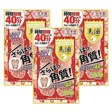 Ashiura Ran Run Express Horse Oil (Up to Foot Size 27 cm)*3