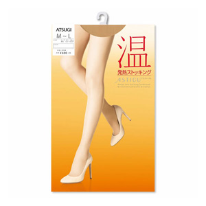 ASTIGU  [Warm] Thermal stockings (Sheer beige 323) M ~ L