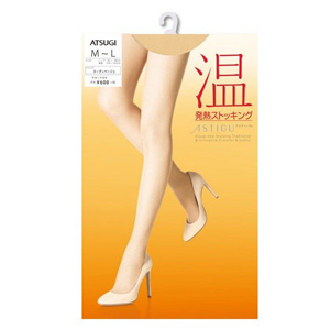 ASTIGU [warm] Thermal stockings (Nudy beige 433) M ~ L