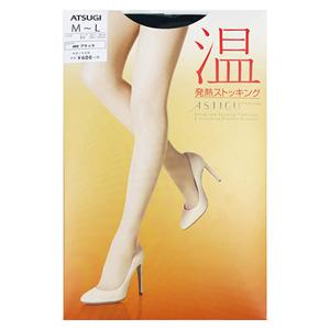 ASTIGU  [warm] Thermal stockings (Black 480) M ~ L